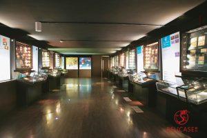 Витрины настенные и витрины столы музей Банка Индонезии